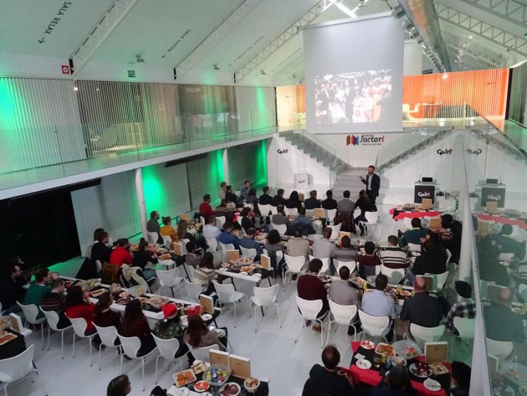 El 21 de diciembre de 2018 dando conferencia en el CEIN (Centro de empresas e innovación Navarra).