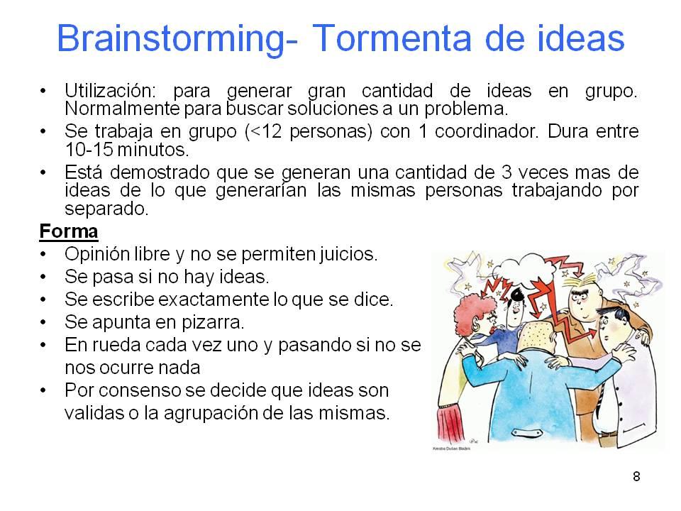 TORMENTA DE IDEAS O BRAINSTORMING